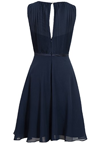 Chiffon Dress Cdress Party Navy Cocktail Pleated Gowns Dark Bridesmaid Dresses Wedding Short 7zwzq6d