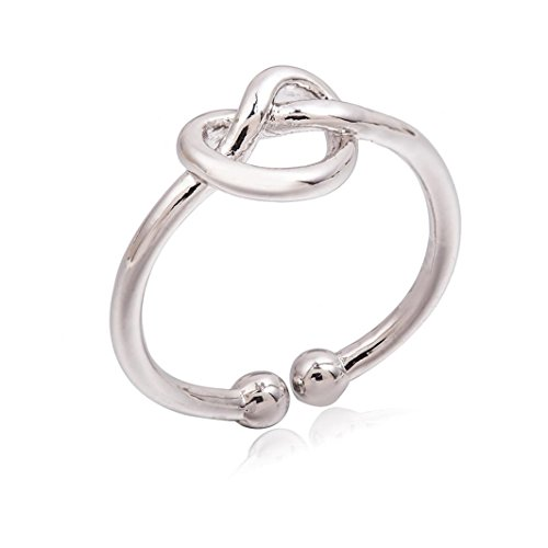 BEUU Knotted Love Opening Ring Simple Knot Open Adjustable For Women (Spirit Halloween Opening Day)
