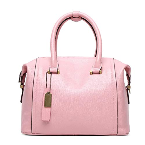 (MATCHANT Soft Surface PU Large Capacity Litchi Pattern Portable Diagonal Package (Color : Pink) )