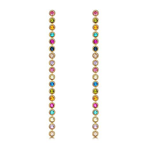 Earring Vs1 (UMODE Colorful Cubic Zirconia Dangle Earrings for Women 2.5 in)