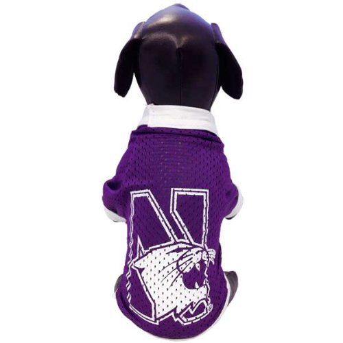 NCAA Northwestern Wildcats Athletic Mesh Dog Jersey, XX-Large