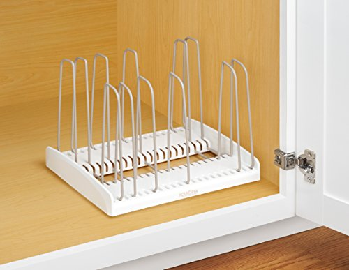 Large Product Image of YouCopia StoreMore Adjustable Cookware Rack Pan Organizer