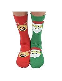 Womens Ugly Christmas Sweater Splitz Holiday Socks