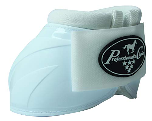 Boots Ballistic Bell - Professional's Choice Horse Equine Overreach Ballistic Spartan II Bell Boots White (XL)