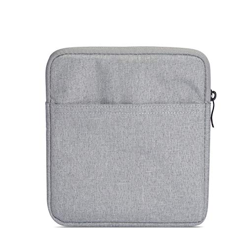 B07FZYRLV5 SixiCat Sleeve for 7 Inch Kindle Oasis (2nd 2017 Release and 3rd 2019 Release) 7-Inch Nylon Case Cover Travel Carry Bag Pouch for All-New 7 inch Kindle Oasis E-Reader (Light Gray) 41RAveCcfsL