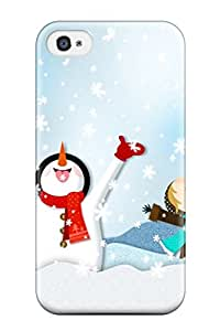 First-class Case Cover For Iphone 4/4s Dual Protection Cover Happy Winter