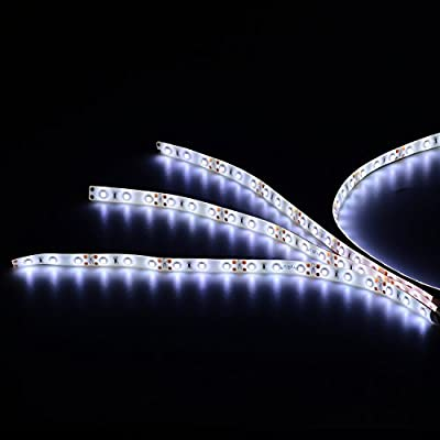 PryEU Daylight White 6000K LED Strip Lights 12V Waterproof for Auto Car Truck Boat Motorcycle Interior Lighting 12'' 30CM 2835 SMD UL Listed Pack of 4: Home Improvement