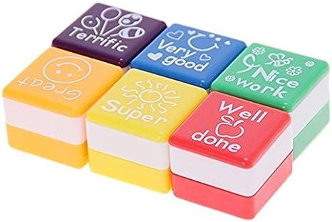 6 unds de sellos de motivacion para niños correcciones de apoyo ...