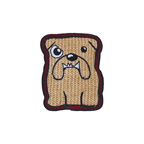 Junkyard Dogs Ultra Tough Extremely Durable Squeaky Sisal Plush Dog Toy by Outward Hound, Small, Bulldog -