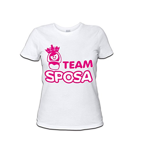 Personalizzata Team Maglietta Bianco Al Per Altra Coroncina Marca Nubilato Donna Addii Sposa Shirt x8q6COSwU