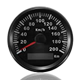 ELING KM GPS Speedometer Odometer 200KM/H for Auto Marine Truck with Backlight 85mm 12V/24V