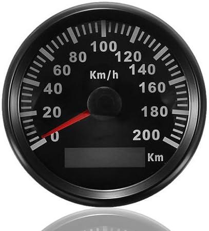 Amazon Fr Eling Compteur Kilométrique 200km H De Kilomètre Gps Pour Le Camion Marin Automatique Avec Le Contre Jour 85mm 12v 24v