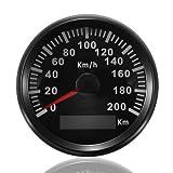 ELING KM GPS Speedometer Odometer 200KM/H for Auto Marine Truck with Backlight 85mm 12V/24V