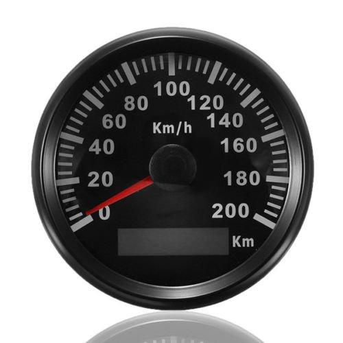 GPS velocí metro odó metro 200 km/h para Auto Marino Camió n con retroiluminació n 85 mm 12 V/24 V ELING