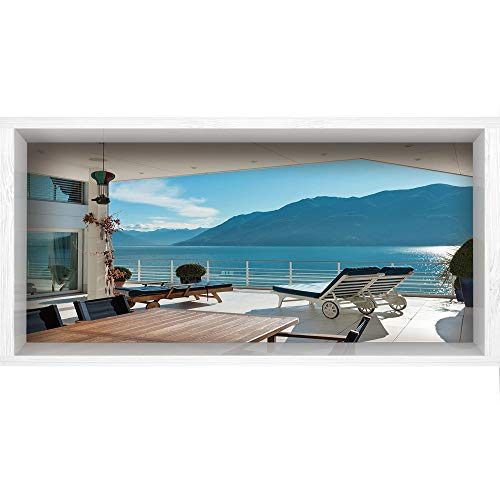 Penthouse Cherry - 3D Depth Illusion Vinyl Wall Decal Sticker,47.2
