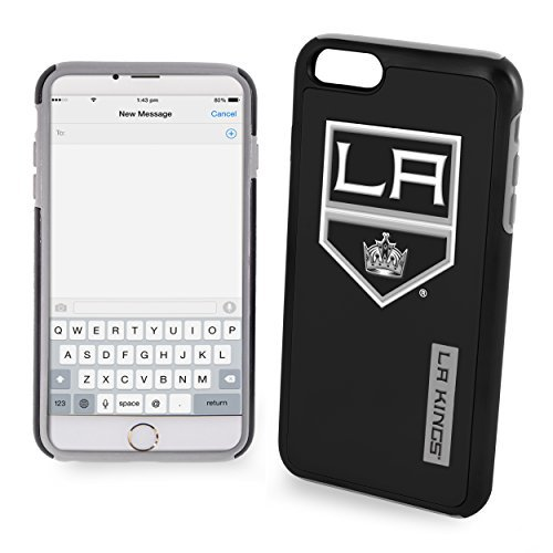 NHL Los Angeles Kings IPhone 6 Dual Hybrid Case (2 Piece), Black by Forever