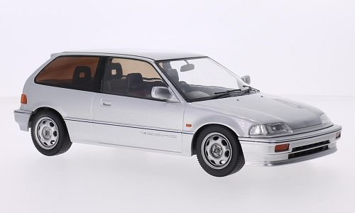 - Honda Civic (EF3) Si, Silver, RHD, 1987, Model Car, Ready-made, Triple 9 Collection 1:18