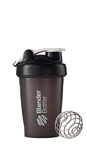 BlenderBottle Classic Loop Top Shaker Bottle, Black/Black, 20-Ounce Loop Top (Mixer And Bottle Go Shake)