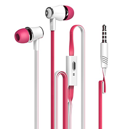 Remote Control Psp Headphone - Dastone 3.5mm Noise Isolating Bass In-ear Stereo Earphones Earbuds Headset,headphones with Remote Control & Microphone for Smartphones Tablets Laptops Earphone Andriod IOS (Rose)