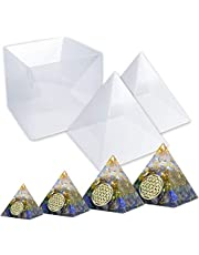 RESIN Pyramid Molds, Large Silicone Pyramid Molds, Resin Silicone Molds for DIY Orgonite Orgone Pyramid, Orgonite Jewelry, Great for Paperweight, Home Decoration, etc (Height:15cm/5.9inch)