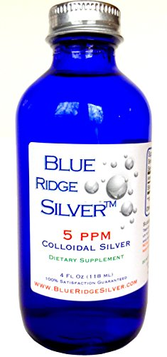 SALE 40% OFF - Blue Ridge Silver 4 oz Glass Bottle Colloidal Silver
