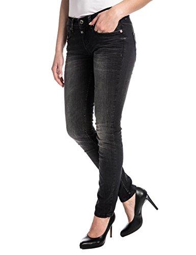 Jeans Donna Ninitz Timezone Nero Wash pirate pq8H5HS