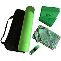 Complete Yoga Kit For Beginners - Everything You Need To Get Started - 7-Piece Equipment Set Incl. Yoga Exercise Mat, Yoga Blocks, Yoga Strap, Yoga Towel Set And Carry Case - Perfect Gift For Yogis