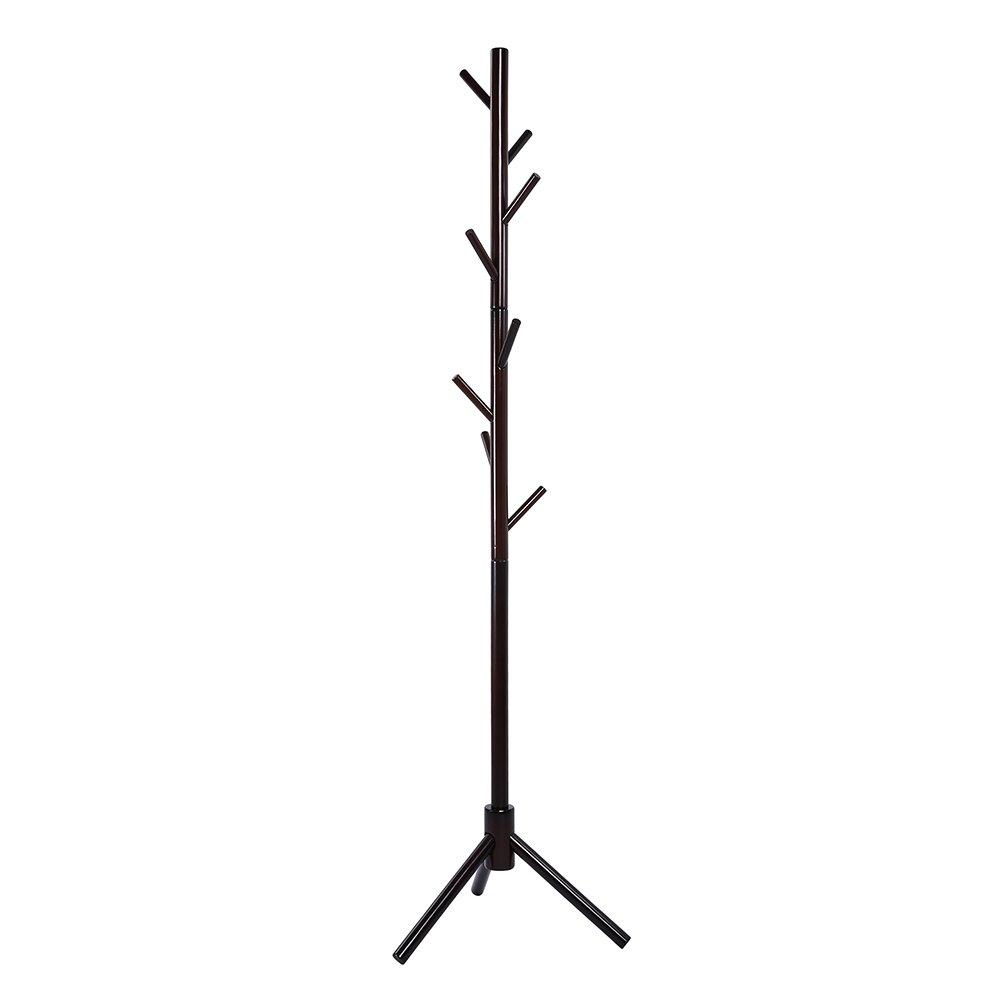maxgoods Coat Rack Free Standing Modern DIY Heavy Duty Entryway Wooden Clothing Rack Hat Corner Hall Umbrella Stand Tree for Bedroom Living Room Office,Easy Assamble (Size 14)