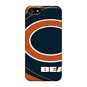 Scratch Protection Hard Cell-phone Case For Iphone 5/5s With Customized Vivid Chicago Bears Image KerryParsons