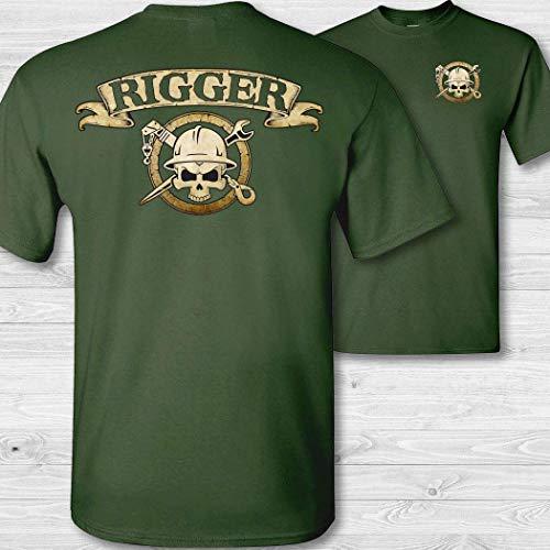Men's Rigger Skull & Crossbones Badge Short Sleeve Tee Shirt