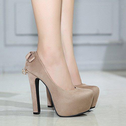 spessore con tacchi Taiwan di con black impermeabile Taiwan ZHZNVX calzatura scarpe alto alti Impermeabile tacco singola i 7xCq0