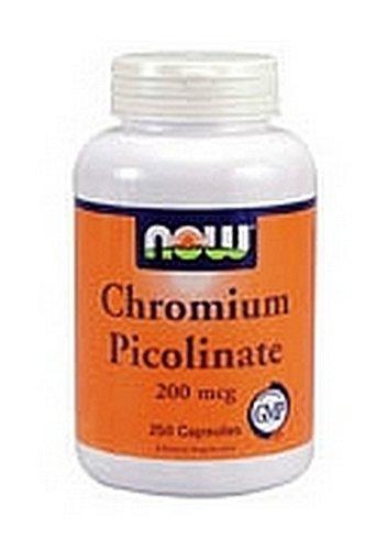Now Foods Chromium Picolinate 200mcg, 100 Capsules