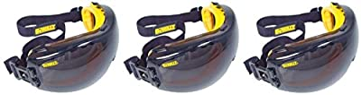 Dewalt DPG82-21 Concealer Smoke Anti-Fog Dual Mold Safety Goggle,UohXii 3 Pack (1 Count Smoke Lens)