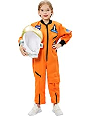 Tacobear Astronaut kostuum kinderen met astronaut helm space kostuum astronaut rollenspel voor kinderverjaardag carnaval Halloween cosplay kostuum