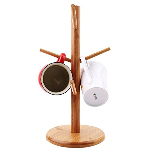 Strong Wood Mug Rack Holder Tree Coffee Cup Storage Stand Kitchen Organization by Agordo (Image #8)
