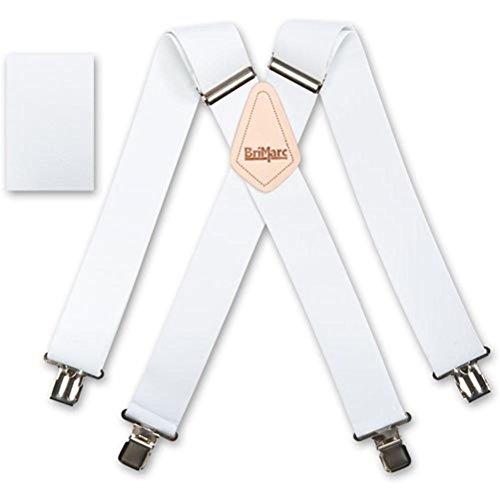 Plain Wide Braces Brimarc - Bretelles - Homme Blanc Blanc Taille unique