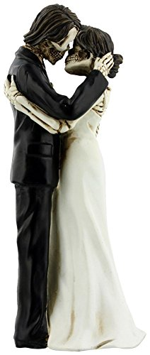 YTC The Kiss Scene Wedding Bridal Skeleton Couple Decorative Figurine