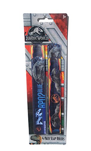 Jurassic World Slap Rulers-4 Pack