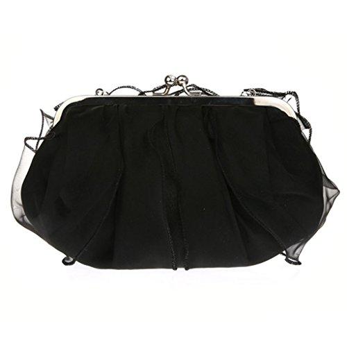 Silver Noir unique Sac porter l'épaule femme taille pour à à Belsen argent UxwR48p