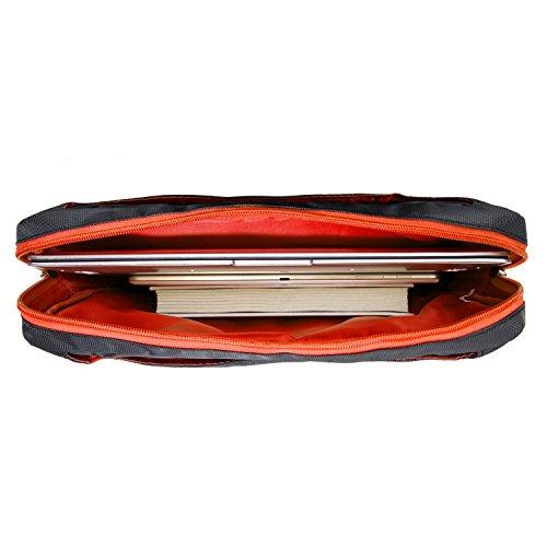 Business Laptop Shoulder Bag Carrying Case Messenger Bag Briefcase Sleeve for Acer Spin 7 / Aspire / Swift 7 / Chromebook R13 / Aspire V / Aspire V3 / Aspire R / Aspire One / Chromebook grau / orange u6VOFPnO