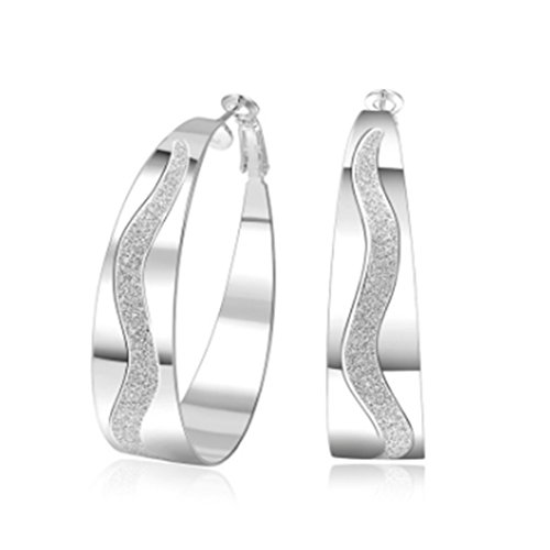 ULAKY Sterling Silver Circle Earrings