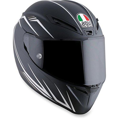 (AGV Veloce-8 Veloce S Adult Helmet - Black/White / Medium/Large)