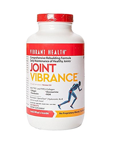 Vibrant Health - Joint Vibrance, Comprehensive Rebuilding Formula Daily Maintenance of Healthy Joints, 252 Count