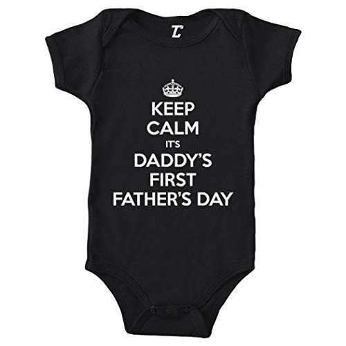 Tcombo Keep Calm Daddys First Fathers Day Bodysuit