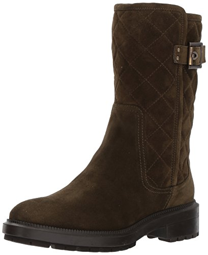 Aquatalia Women's Layla Suede Motorcycle Boot, Herb, 8.5 M M US