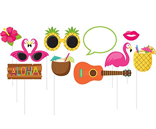 10-Piece Photo Props For Party, Luau ()