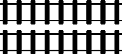 Straight Train Track Wall Decals Removable Train Wall Stickers
