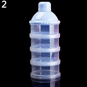 Kids Baby Feeding 4 Layers Milk Powder Dispenser Bottle Storage Container for Travel Pink Jiacheng29