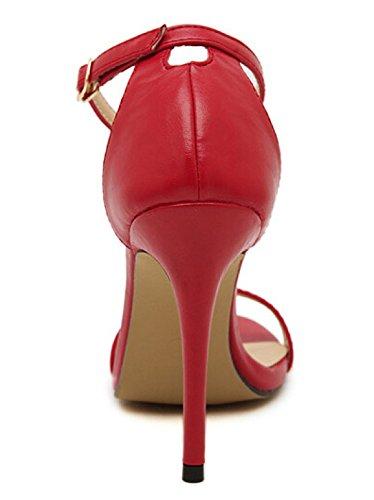Spillo Adulti Sexy a Inception Rosso Donna Estivi Comodi Primavera Estate Scarpe Infinite Eleganti Adatta Sandali Tacco Stagione Ragazza Pro XpwWpB8qO