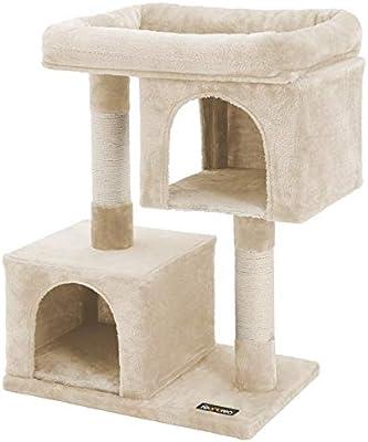 FEANDREA Árbol para Gatos Rascador para Gatos Columnas recubiertas de Sisal para Gatos Beige PCT61M: Amazon.es: Productos para mascotas